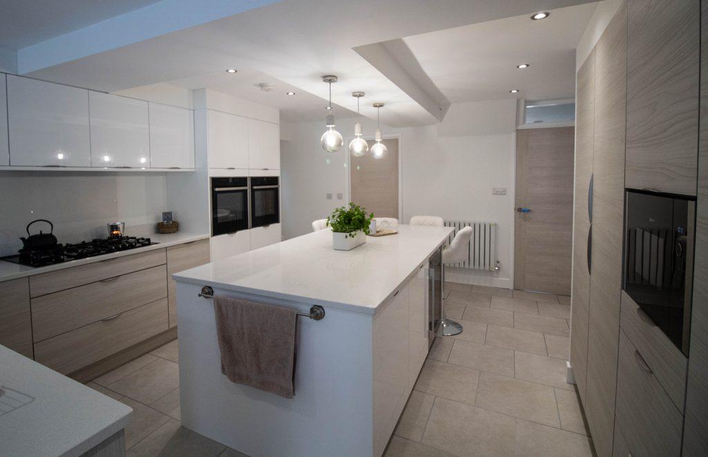 Otto Kitchen in Gloss White, Noble Kitchens