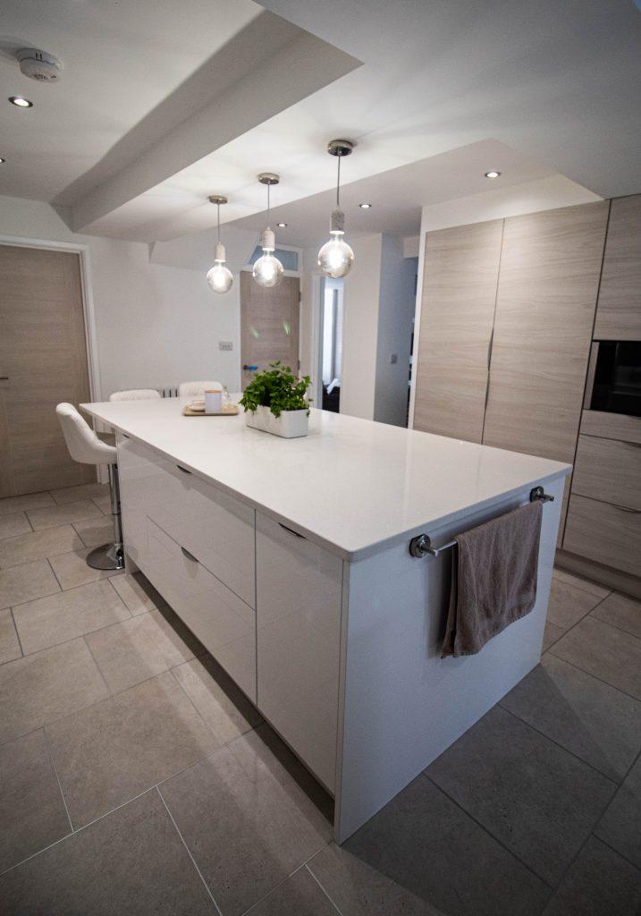 Modern Kitchen Renovation - Otto Kitchen in Gloss White, Noble Kitchens