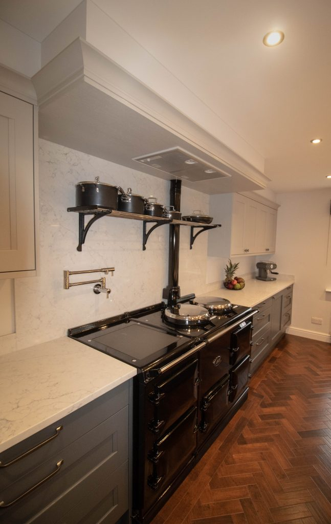 Kew Shaker Kitchen in Soft Grey and Seal Grey