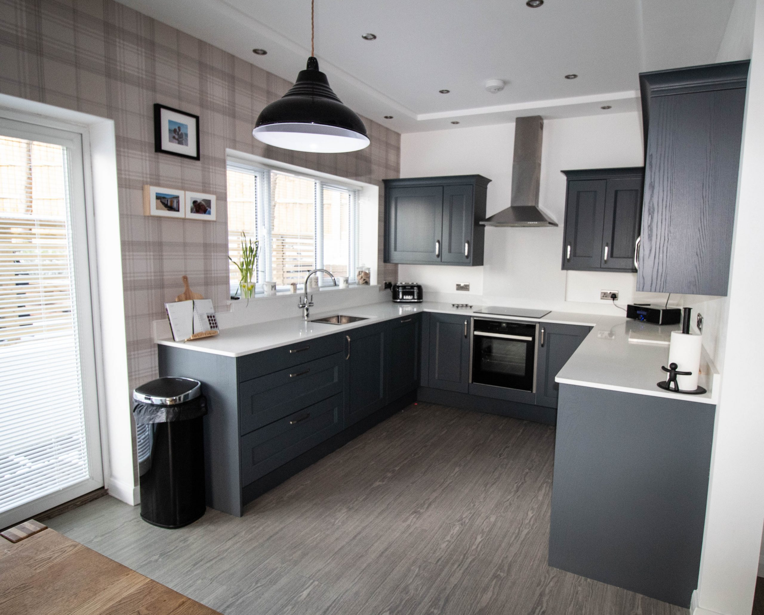 Kew painted shaker kitchen in seal grey, Noble Kitchens