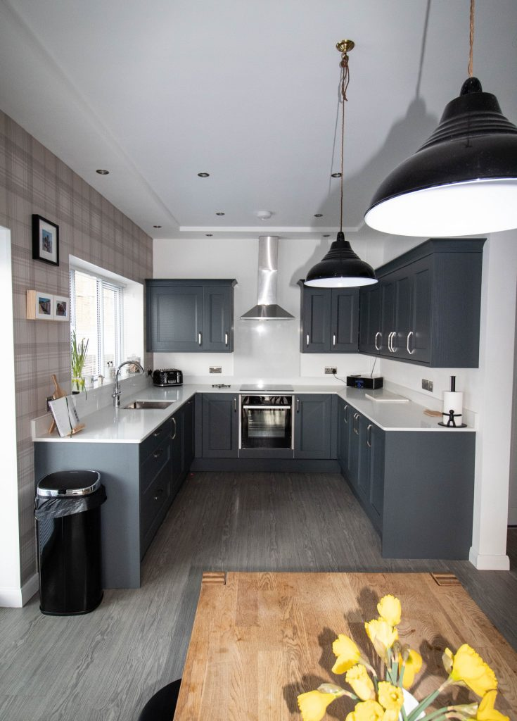 Kew Shaker Kitchen in Seal Grey, Noble Kitchens