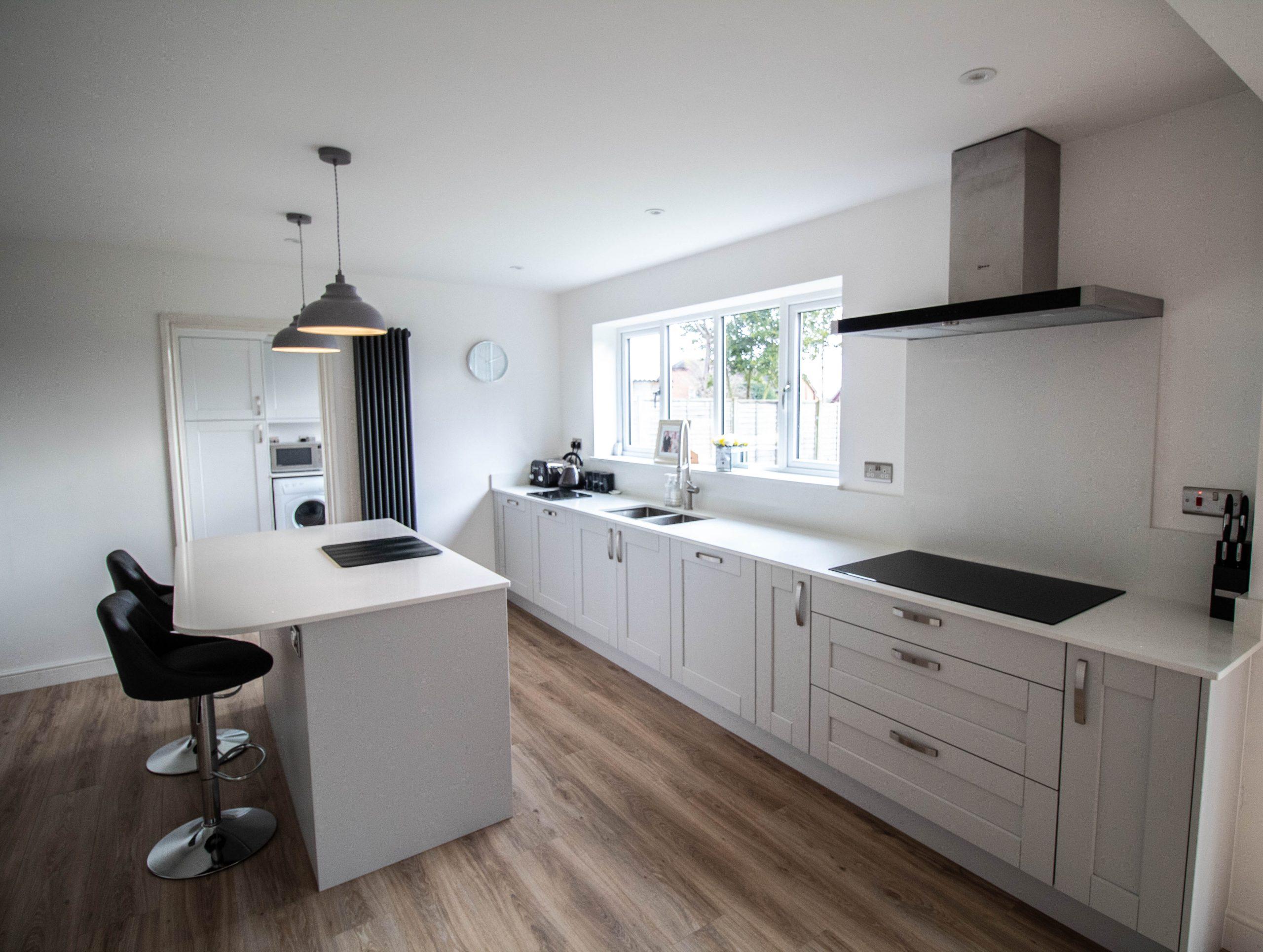 Kensington Shaker Kitchen in Light Grey, Noble Kitchens