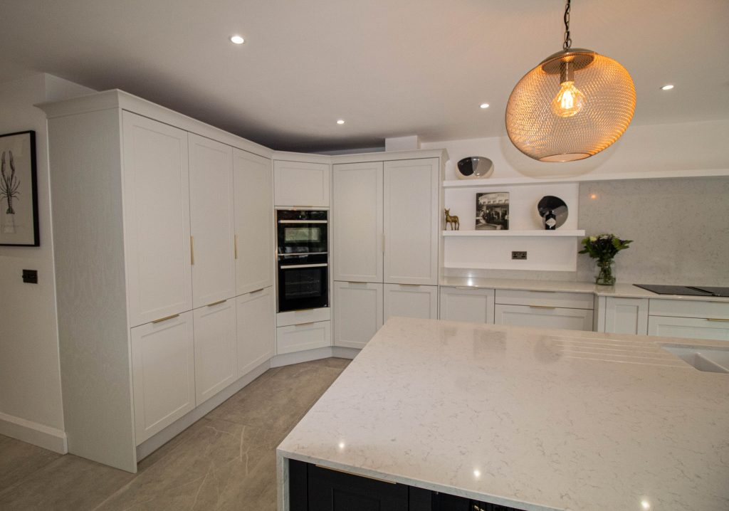 Fenton Shaker Kitchen in French Grey and Charcoal, Noble Kitchens