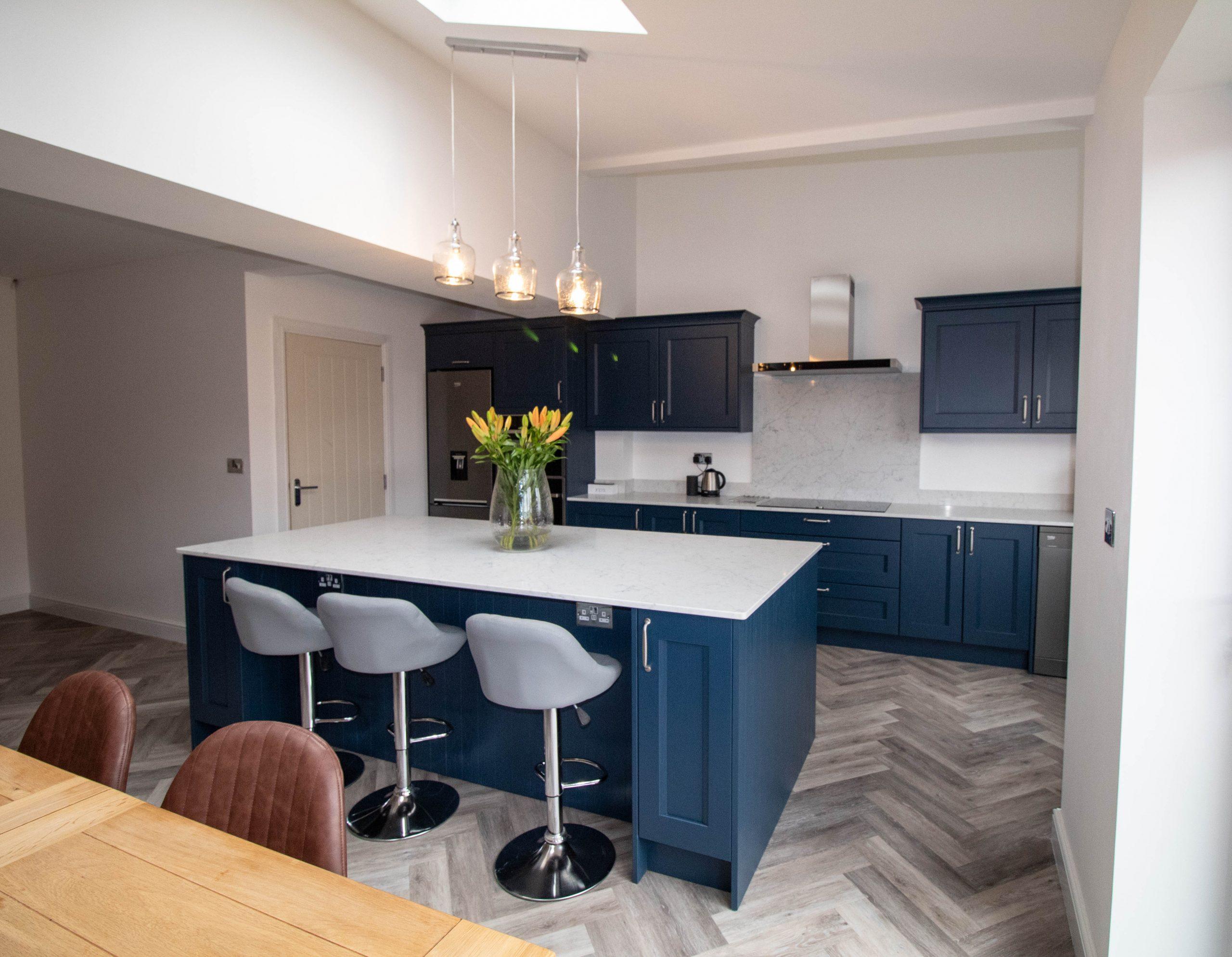 Prussian Blue Shaker Kitchen, Noble Kitchens